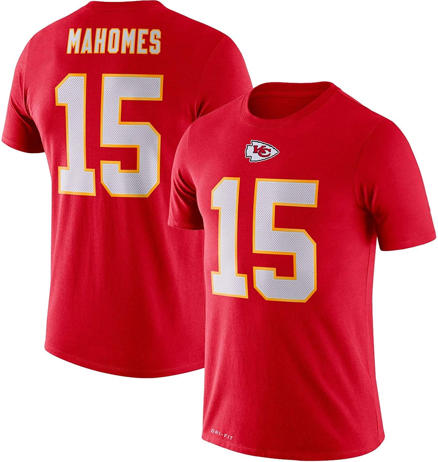 Outerstuff Patrick Mahomes Kansas City Chiefs Red Kids 4-7 Dri Fit Pride Name and Number Jersey T-Shirt