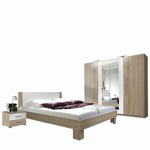 Mirjan24 Schlafzimmer-Set Vera II, Elegante Bett, Kleiderschrank ...
