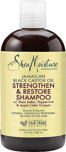 Shea Moisture Jamaican Black Castor Strengthen and Grow Unisex Normal Hair Shampoo, 385 ml