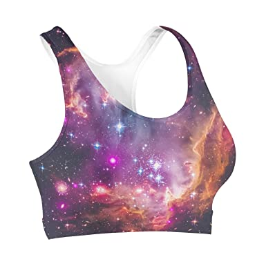 b6529d65e1235 Queen of Cases Fairytale Galaxy Sports Bra - XS  Amazon.co.uk  Clothing