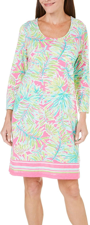 Caribbean Joe Womens Short Sleeve Dress