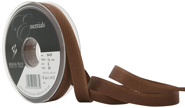 Berisfords 13 mm Kick Tape, Dark Brown 9425-DBR-13