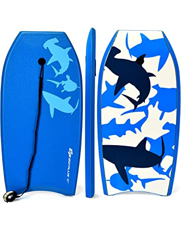 847d1ce73b Goplus Super Bodyboard Body Board EPS Core, IXPE Deck, HDPE Slick Bottom  with Leash