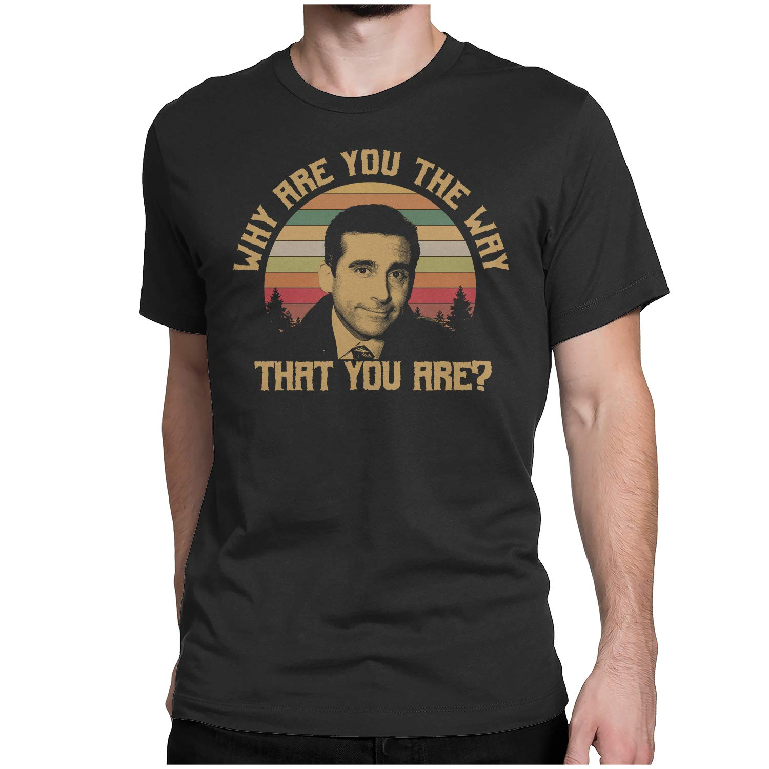 Michael Scott WHY are You The Way That You are Vintage Retro T-Shirt