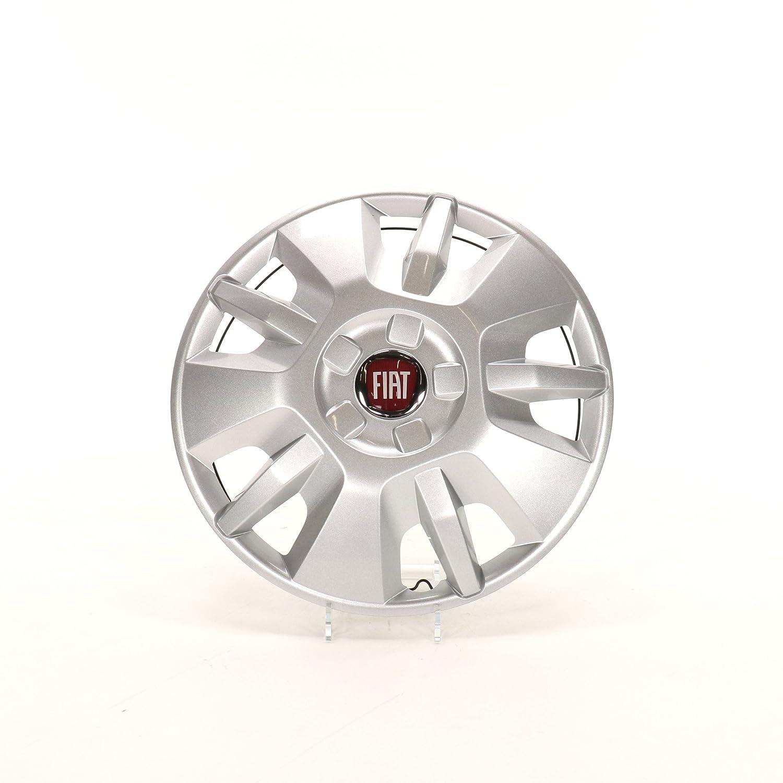 15 Enjoliveur original Fiat avec embl/ème rouge de Fiat et anneaux de fixation 1374086080