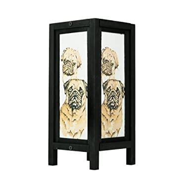 Thai Vintage Handmade ASIAN Oriental Collectible Pet Pug Dog Lover Gifts Bedside or Table Lamp Shades
