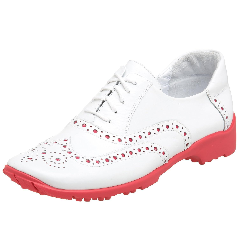 [Sesto Meucci] レディースGeminiゴルフシューズ 8.5 2A(N) US White Calf/Fuchsia B001UV3PJ6