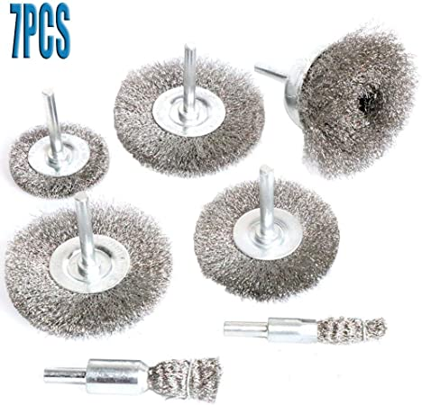 40PCS Wire Bench Wheel Brush for Dremel Rotary Tool Electric Grinder