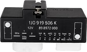 LUJUNTEC Cooling Fan Control Unit Module Relay 1J0919506K Fit for 2000-2006 Audi TT /2000-2006 Audi TT Quattro /2000-2008 Volkswagen Beetle /2000-2006 Volkswagen Golf /2000-2005 Volkswagen Jetta