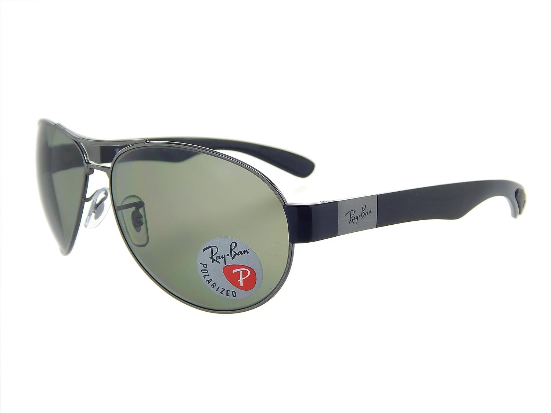 376335089ff Amazon.com  Ray Ban RB3509 004 9A Gunmetal Black Polar Green 63mm Sunglasses   Clothing