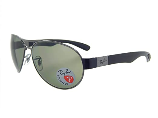 65fce9a906 Image Unavailable. Image not available for. Color  Ray Ban RB3509 004 9A  Gunmetal Black Polar Green 63mm Sunglasses