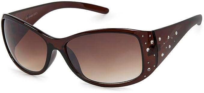 29bf309ad2 styleBREAKER gafas de sol con piedras de estrás y degradadas, forma de  mariposa, mujeres 09020055, color:Marco marrón/delineado de vidrio marrón:  Amazon.es: ...