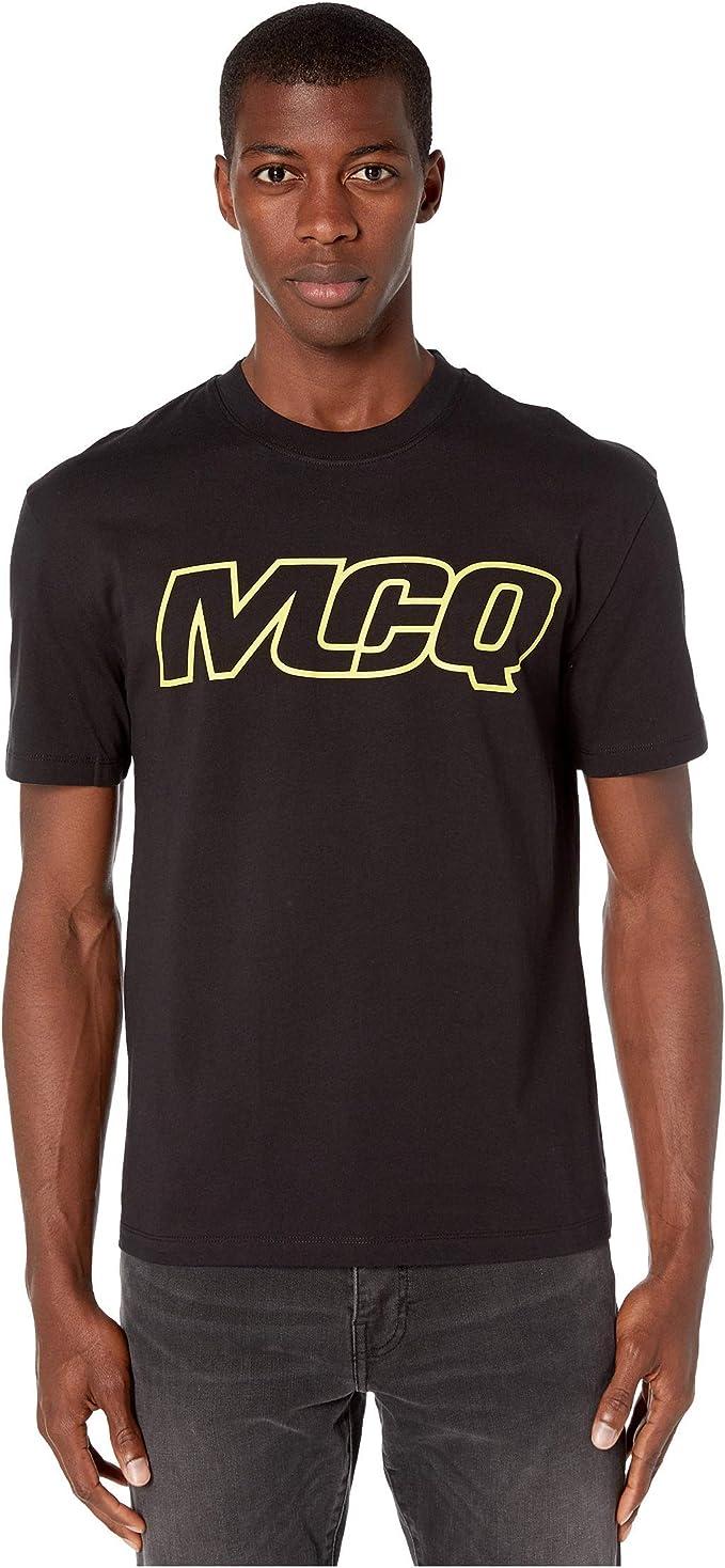 McQ - Camiseta para Hombre con Logo de Hombro caído - Negro - X-Large: Amazon.es: Ropa y accesorios