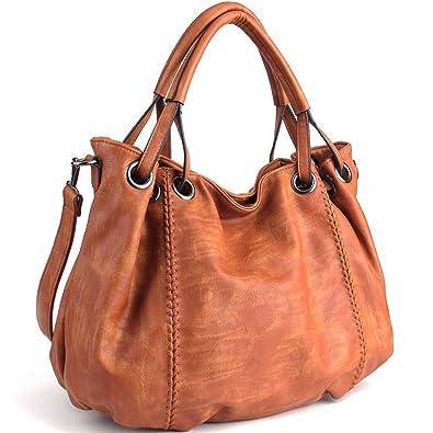 JOYSON Damen Handtaschen Schultertaschen PU Leder Taschen Umhängetaschen  Damen PU Leder Hobo Taschen Henkeltaschen Grosse Kapazität cbd3cc84ed