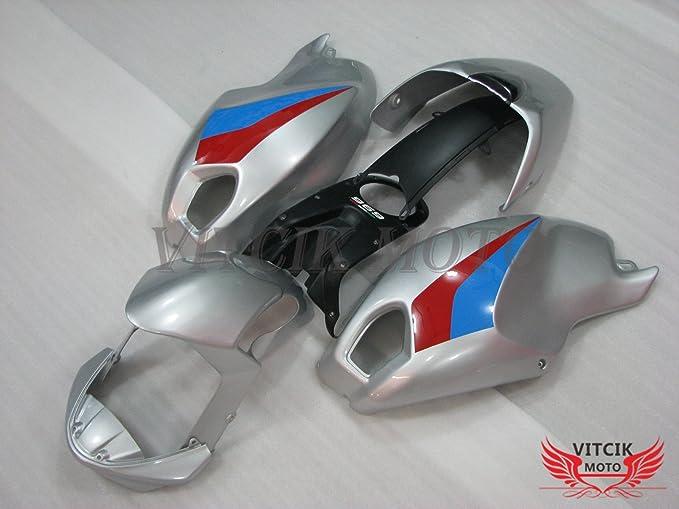 vitcik (Kits de carenado ajuste para Ducati 696 796 795 M1000 M1100 2009 2010 2011 09 10 11) plástico ABS Inyección Molde completo motocicleta cuerpo ...