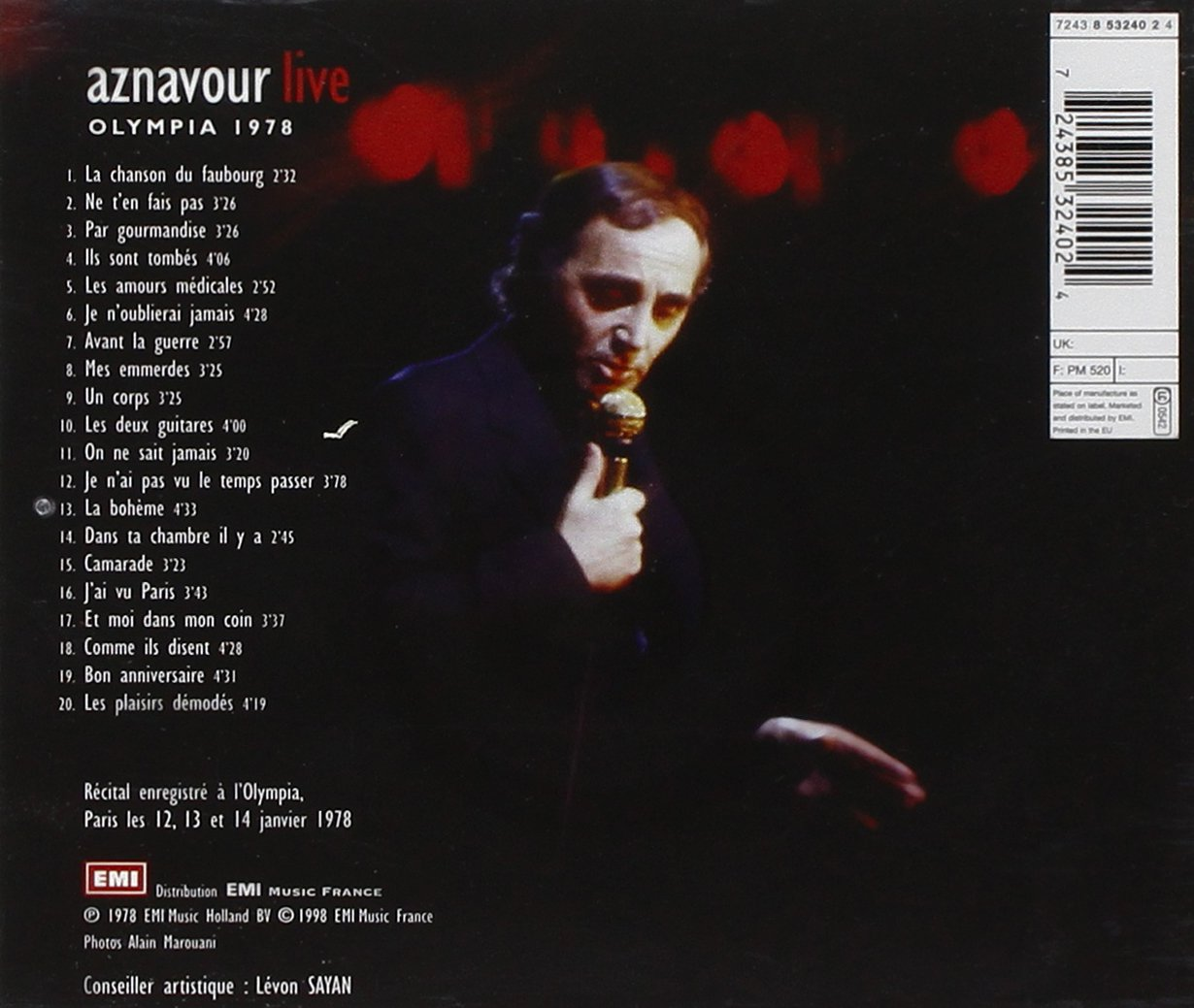 Aznavour Live: Olympia 1978