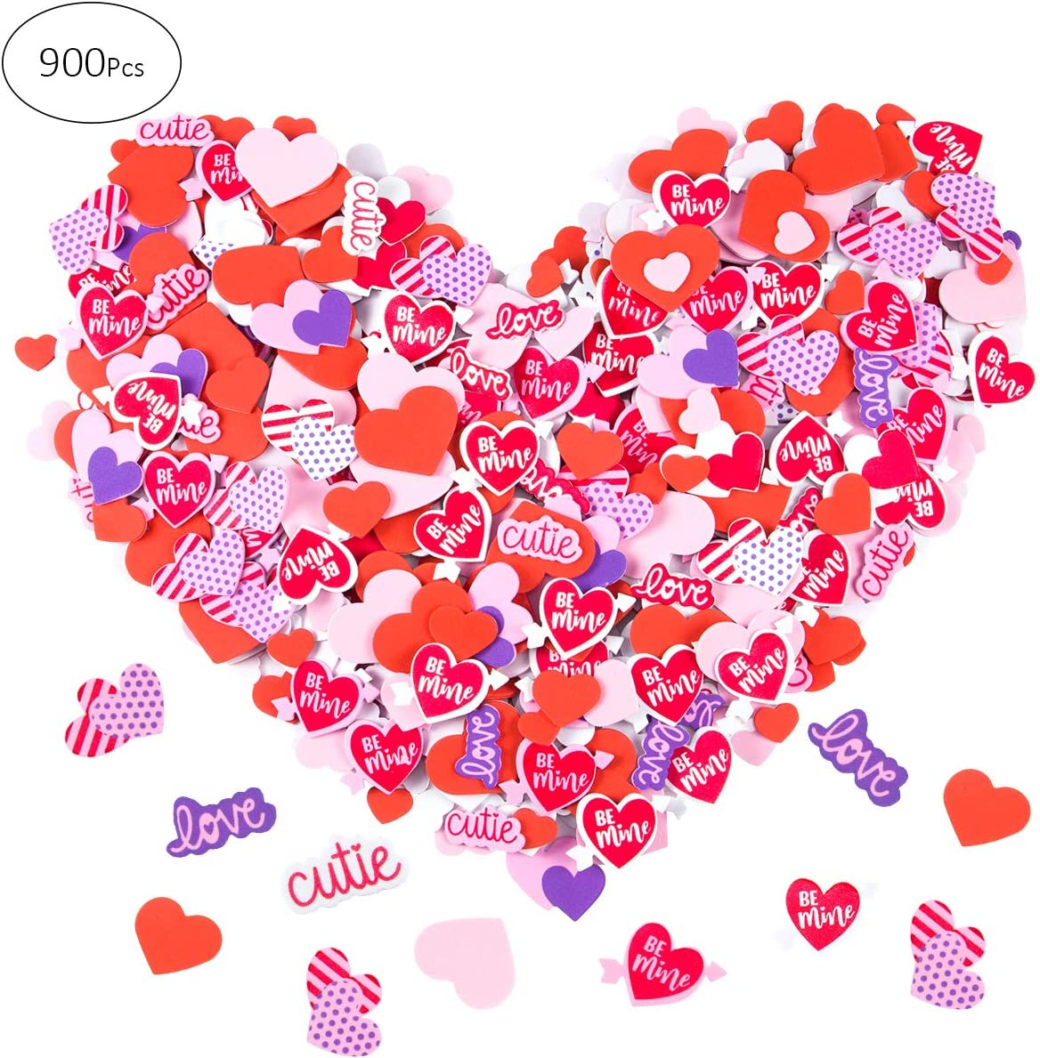 Self-adhesive Scrapbooking Sponge Sticker Baby Toys Red Love Heart Home Decals