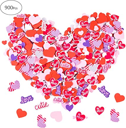 640 Pieces Heart Shape Stickers Set Includes Glitter Heart Shape Foam Stickers Floral Print Foam Heart Stickers Colorful Self-Adhesive Heart Stickers for Valentines Day Wedding Supplies