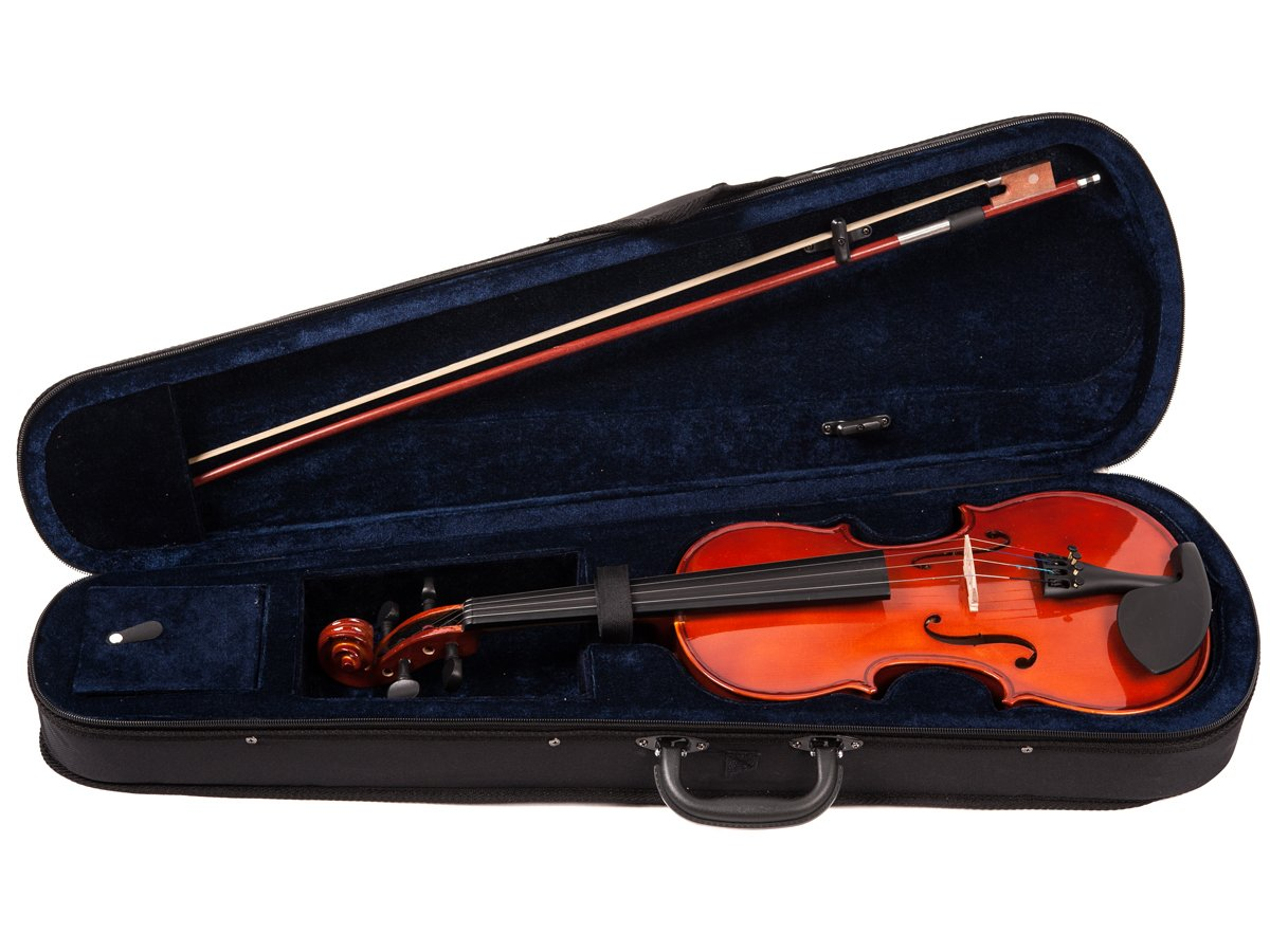 ADM VLP13-18 1/8 Size Entry Level Solid Wood Violin Outfit