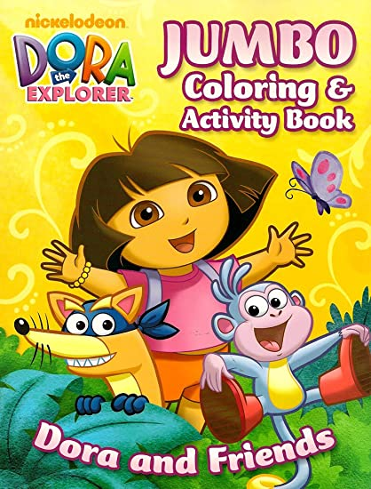 Amazon.com: Dora The Explorer Jumbo Coloring And Activity Book ~ Dora And  Friends (96 Pages): Toys & Games