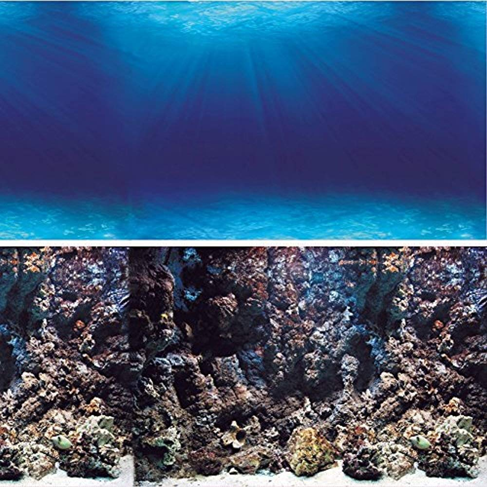 60\ Vepotek Aquarium Background Double sides (Deep Seabed Coral Rock) (60 W X 24 H)