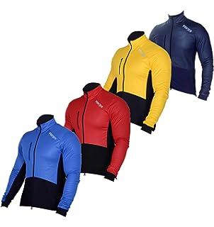 Foxter Men Windproof Cycling Jacket Long Sleeve Thermal Fleeced Jersey  Windbreak Jacket 1cf04e1c7
