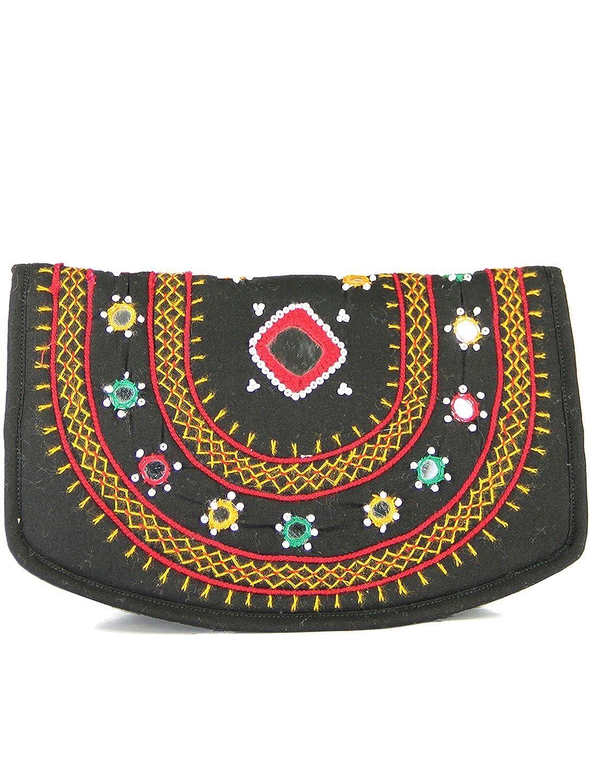 a499f24d256a Womens Cottage Handmade Black Cotton Big Mirror Patch Work Hand ...