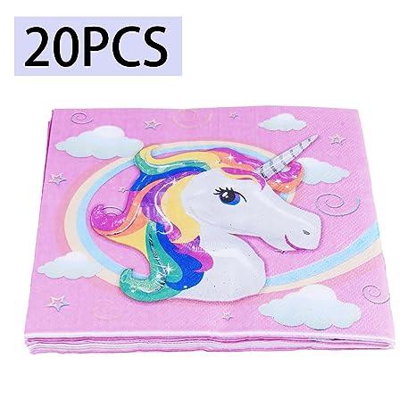 Amazon.com: iiniim Fantasy vajilla de fiesta niños unicornio ...