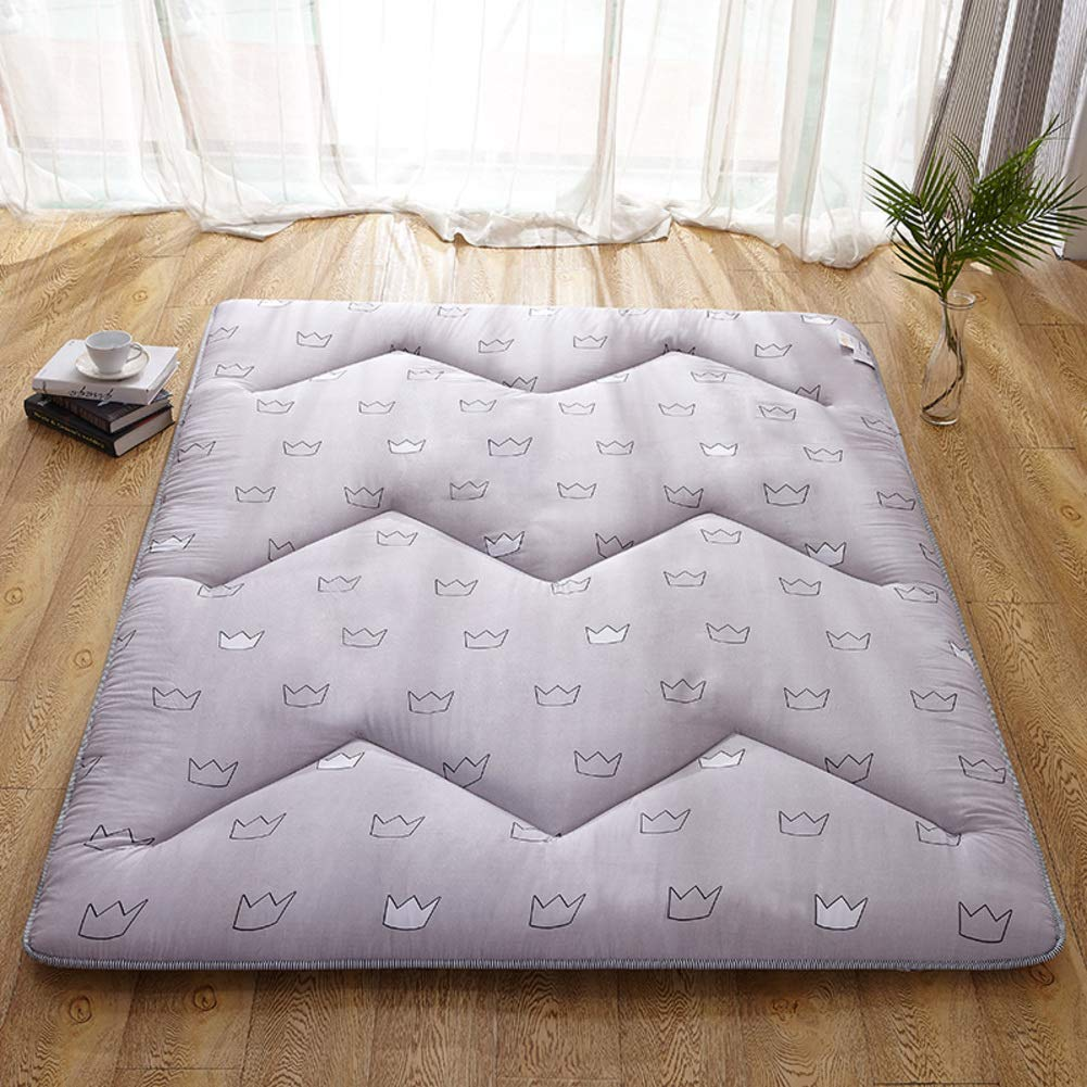 D 180x200cm(71x79inch) Foldable Futon Sleeping Floor mat, Multi Size Roll up Tatami Japanese Mattress pad Topper Bed roll for Student Dormitory Home-E 150x200cm(59x79inch)