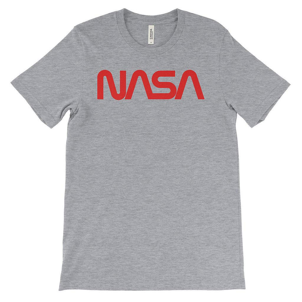NASA Logo Men's T-Shirt Premium 100% Soft Cotton T-Shirt Space Travel Tee Grey (XXXL)