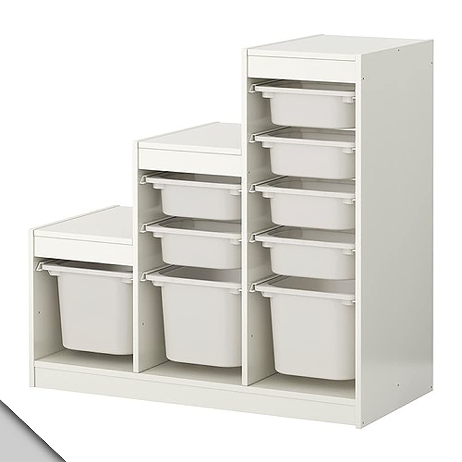 Amazon.com: IKEA   TROFAST Storage Combination (A1) With Boxes, White,  White: Kitchen U0026 Dining