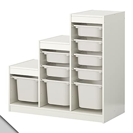 Amazon.com: IKEA - TROFAST Storage combination (A1) with boxes ...