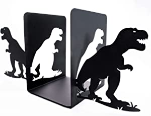 Bookends for Kids I Book Ends for Home Decorative I Dinosaur Decor Metal Bookends 1-Pair I Unique bookends for Shelves I Book Ends Childrens Room I Book Holders for Shelves I Kids Bookends