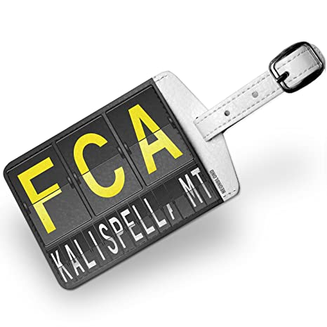 Amazon com | Luggage Tag FCA Airport Code for Kalispell, MT