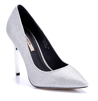 Schuhtempel24 Damen Schuhe Klassische Pumps Rot Blockabsatz 12 cm High Heels