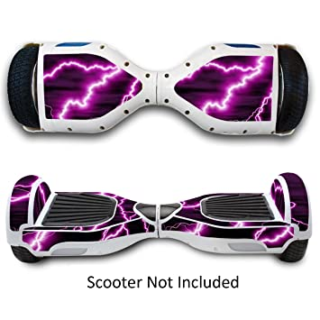 Generic Self Balancing Scooters Skins Hover Electric Protective Boards Stickers For Two Wheel Self Balance Board (Purple Lightning) Scooters & Equipment at amazon