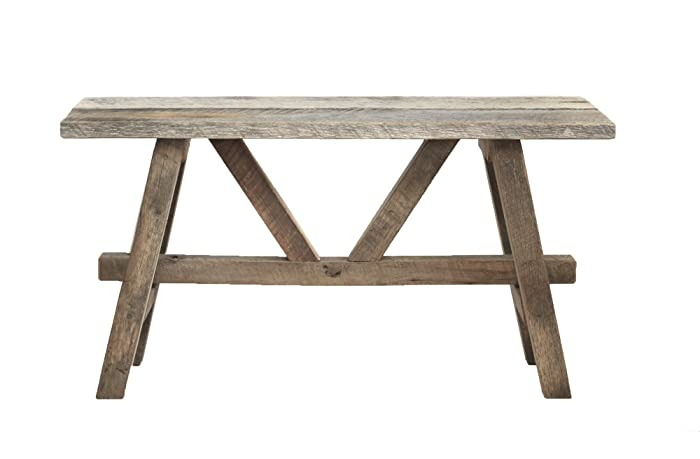 Rustic reclaimed wood bench - Amazon.com: Rustic Reclaimed Wood Bench: Handmade
