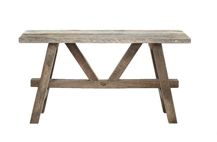 Rustic reclaimed wood bench - Amazon.com: Rustic Reclaimed Wood Bench: Handmade