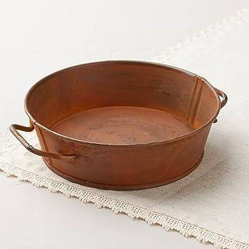 Par de primitiva oxidado Mini lavado bañera estilo vela sartenes para decorar, decorar y diseñar: Amazon.es: Juguetes y juegos