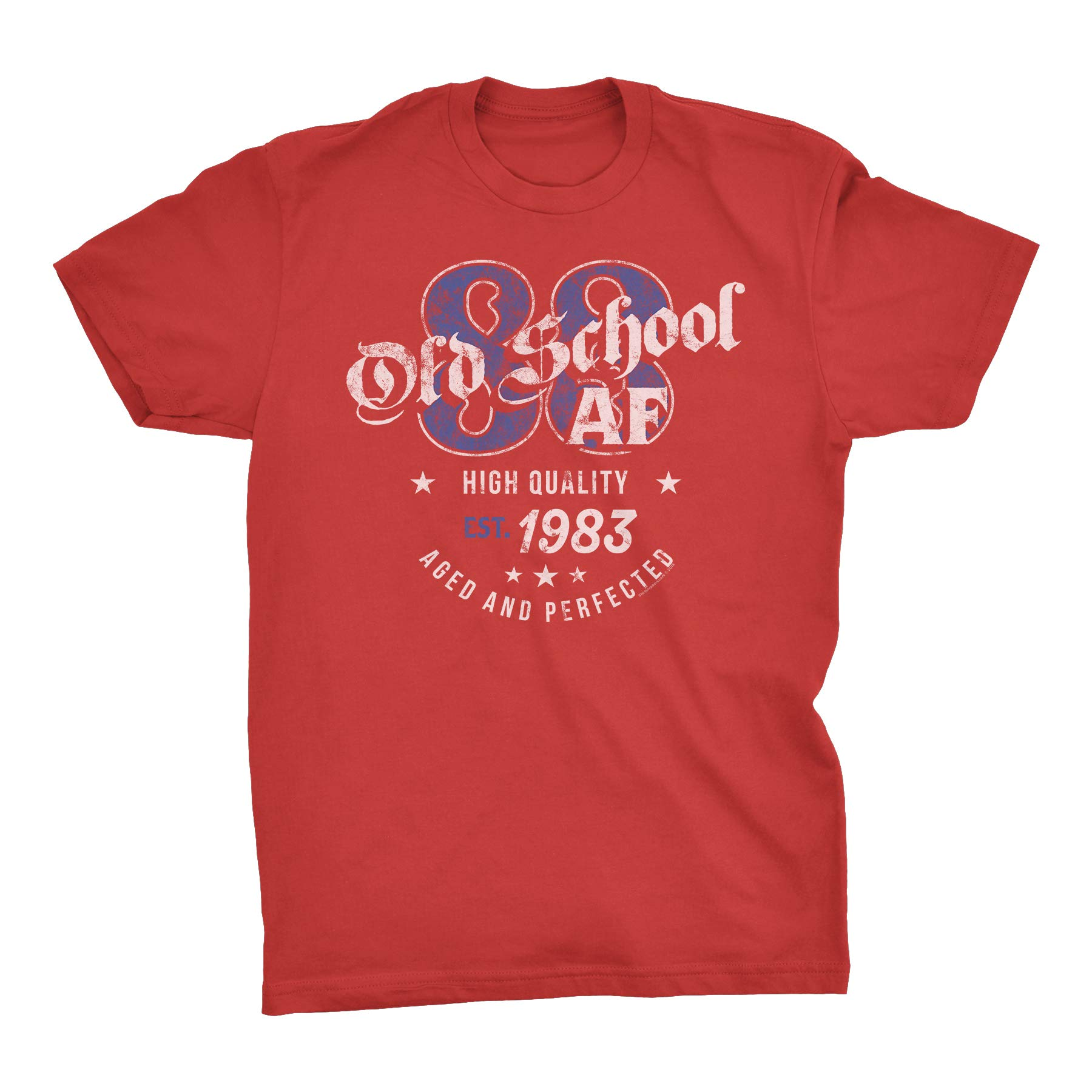 Shirtinvaders 36th Birthday Gift T Shirt Old School Af 1983 Aged And Perfected 5863