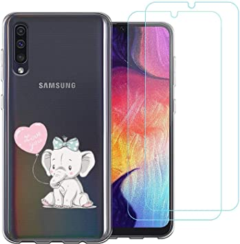 jrester Funda Samsung Galaxy A70,Elefante Lindo Flexible Suave ...