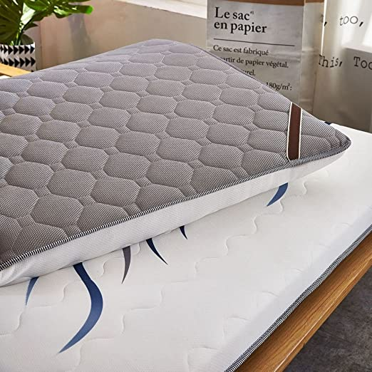 Amazon.com: JL&LU Thicken Stripe Sleeping Mattress,Double Thicken Sponge Sleeping Pad Portable Mattress Topper-A 100x200cm(39x79inch): Home & Kitchen