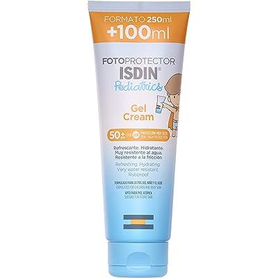 ISDIN - Fotoprotector Pediatrics Gel Cream SPF 50+, Protector solar corporal para niños, El todoterreno de los fotoprotectores para toda la familia, 250 ml