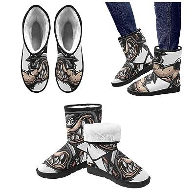 LEINTEREST wolf Snow Boots Fashion Shoes For Men