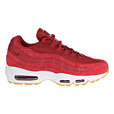 huge selection of 2e40e 6ee2e NIKE Men s Air Max 95 Premium Sneaker Gym Red Team Red White (11.5