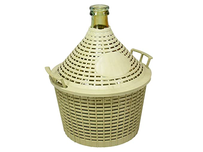 Home Damigiana con Cesto, Vetro/Plastica, Beige, 10 litri: Amazon.es: Hogar