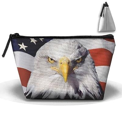 Chion Eagle American Flag Hand Bag Pouch Portable Storage Bag Clutch Handbag