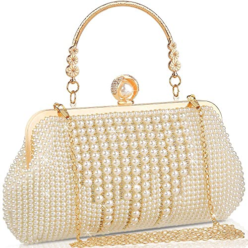 Buy veyiina nero Women Clutches Evening Bags Pearl Bags Handbags for  Wedding Party Date Clutch Purse at Amazon.in