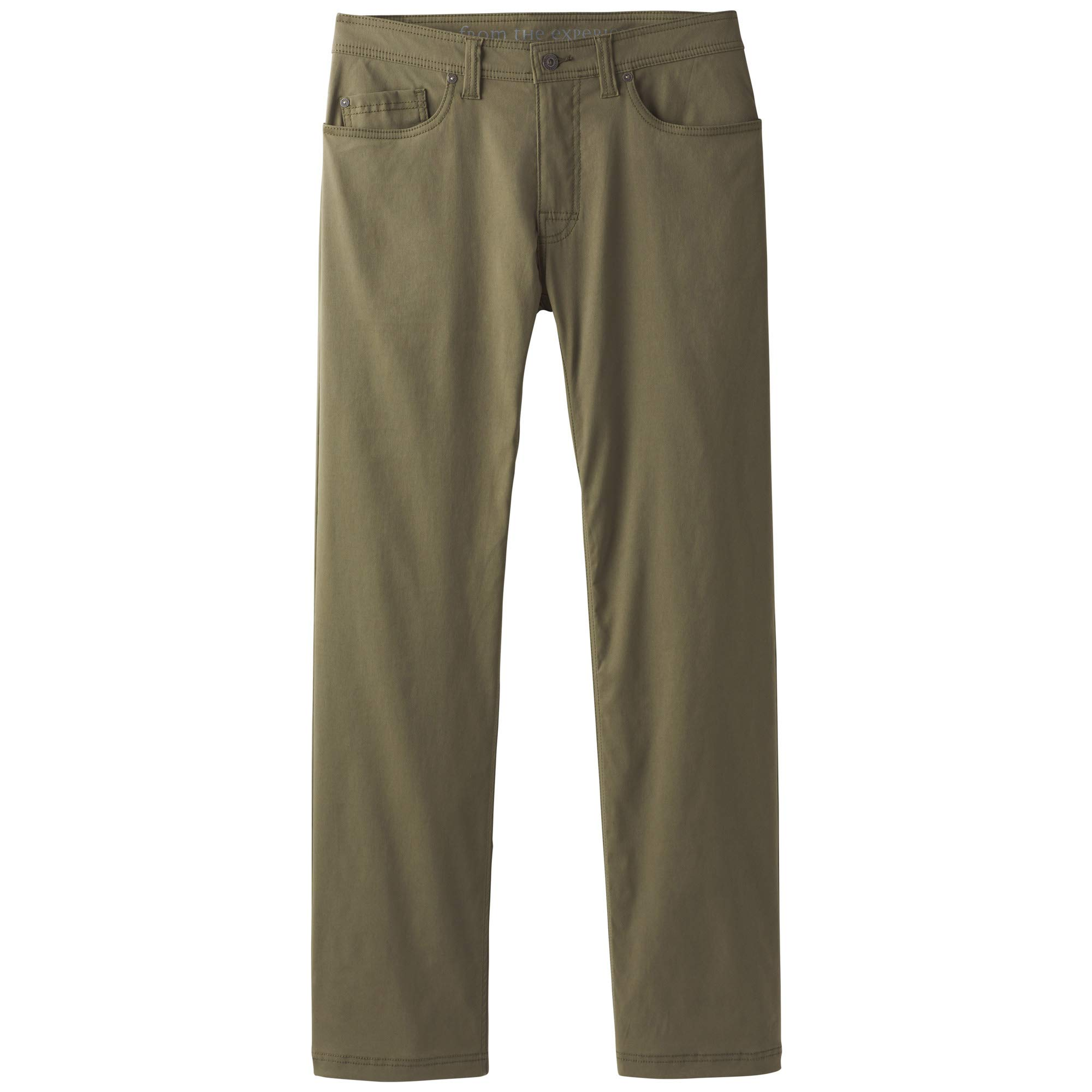 prAna Men's Brion Pant 32'' Inseam, Cargo Green, 28