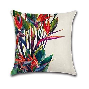 Cosanter cojín Tropical verde hojas de planta manta funda de almohada para sofá coche decoración para el hogar